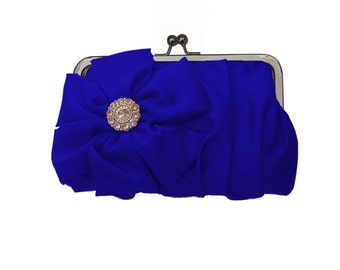 Blue formal clutch, Custom bridesmaid clutch, bridal clutch, Wedding clutch