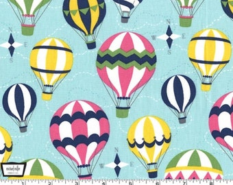 Up and Away - Mist Hot Air Balloons by Emily Herrick Designs from Michael Miller