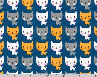 Suzy's Minis - Cats Navy by Suzy Ultman from Robert Kaufman