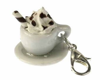 CHARM00129 Cocoa hot chocolate charm zipper pull charm pendants of Miniblings