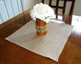 Natural Tan Burlap Table Square 17x17 Burlap Table Decoration Center Piece Wedding Shower