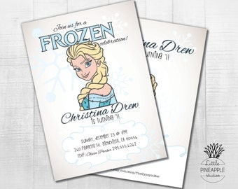 Frozen Birthday Party Invite DIY Printable