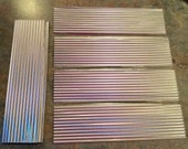 CORRUGATED METAL 12 Pc. Set Roofing / Tin Craft Supplies for Bird Houses, Weddings, Model Railroad Projects, Buildings, Kits,Scrapbooking