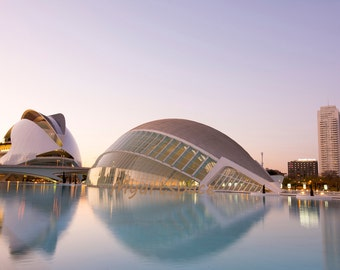 Spain Architecture, Valencia Photography, Spanish Art, City of Arts Valencia, Spain modern European architecture