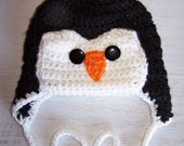 IN STOCK- Sparkles the Penguin Hat, animal hats, baby hats, winter hats, baby boy hat, penguin hat, baby girl hat, photo prop, crochet hat