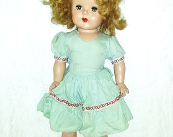 Vintage Mid Century Arranbee Nancy -Shirley Temple Doll 19 inch Plastic