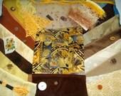 GOLD & BRONZE Inspiration Kit - Vintage Embellishments, Lace, Buttons, Trims, Kensitas Silk Flowers