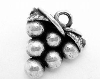 Antique Victorian Sterling Silver Grape Button 22500