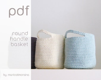 On sale!! Crochet pattern. PDF Pattern. Crochet Basket. Diagramme crochet. Häkeln Korb.  Häkeln Anleitung. Modello
