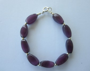 Bracelet Dark Purple Beads