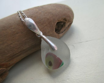 End Of Day Sea Glass Sterling Silver Necklace