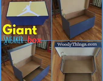 Giant Sneaker Box, ANY Color, Holds 4 6 Shoes/Sneakers.