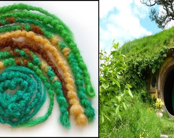 "LOTR Inspired Crochet Synthetic Dreadlocks ""Hobbit Holes"" Accent Kit"