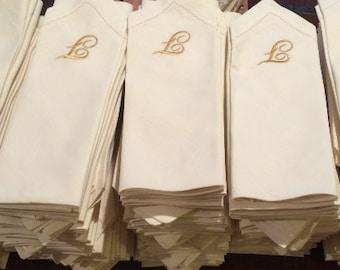 Bulk Monogrammed Wedding Napkins, Set of 50, Custom Napkins, Embroidered Cloth Napkins, wedding linens, wedding gift, monogrammed napkins