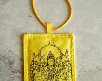Maha Cundi pendant power amulet fabric art handmade