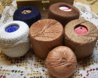 Nice Vintage Collection of Darning or Mending Cotton Thread Lot of 6