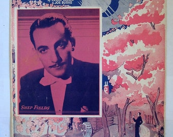 "SHEP FIELDS PLAYS.""Cherry Blossom Lane "". 1937 Sheet music featuring Fields photo  cover, used  condition, See Description for more info"