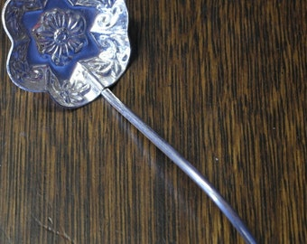 antique silver plate sugar berry serving spoon
