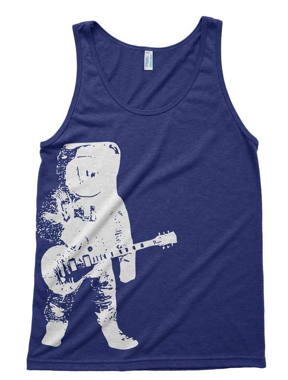 Astronaut guitar outer space tri blend tank american apparel for Outer space guitar