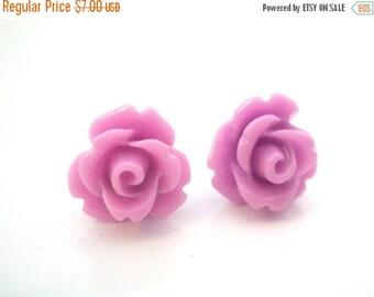 SALE Lavender Earrings, Purple Stud Earrings, Rose Earrings, Lilac, Flower Earrings, Wedding, Bridesmaid Earrings, Bridesmaid Gifts