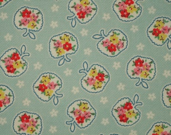 CK001 - 140cmx100cm Cotton Canvas Fabric - Apple and flower