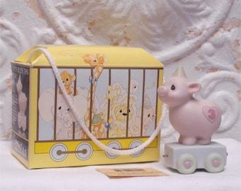 Precious Moments 3 Year Old Birthday Train Figurine Pig