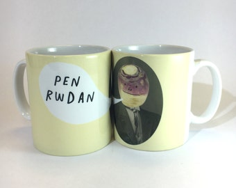 Pen Rwdan Welsh Text Fathers Day Silly Person Ceramic Mug 11oz