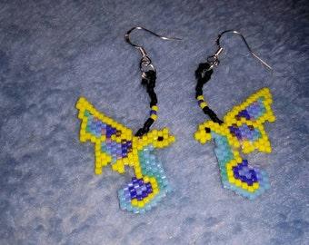 Butterfly Dragon Earrings Clearance 10.00