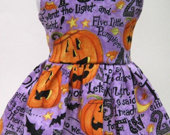 5 Little Pumpkins Halloween Dress for Your American Girl Doll E