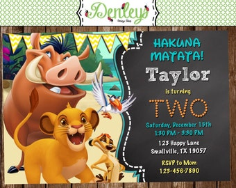 Lion King Birthday Invitation (LK01)