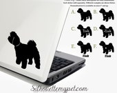 Maltipoo Decal Vinyl Sticker  Silhouette My Pet Design:DOG-MLP01