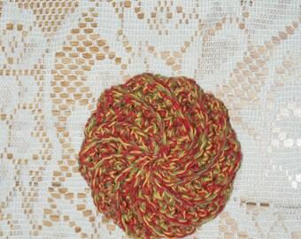 Festive Colored  Spiral Scrubbie Crochet dishcloth  All Cotton / Puffy Wash Cloth scrubber face cloth