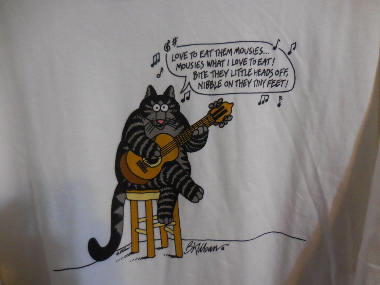 Vintage Nos B Kliban Cats Shirt Love To Eat Them