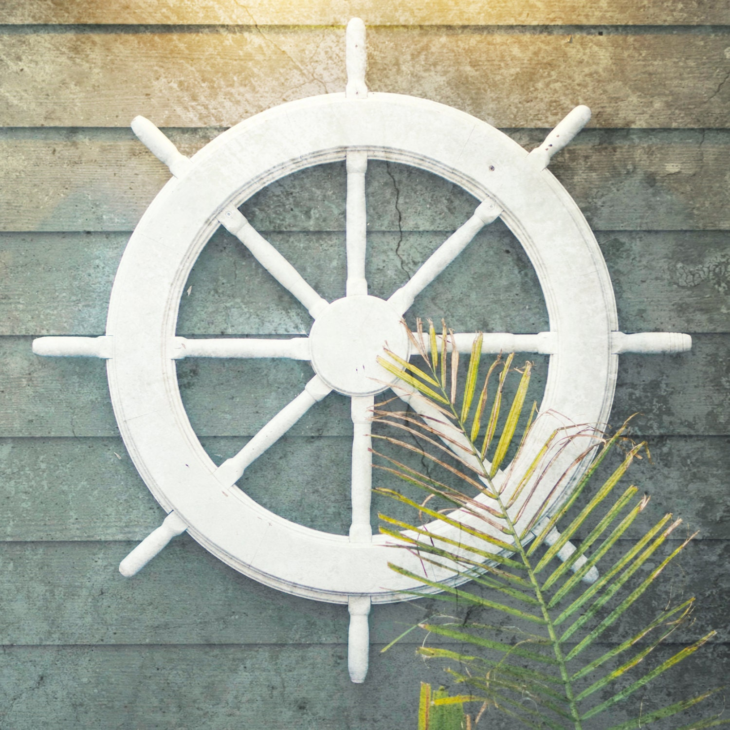Nautical Wheel Decor: Ship Wheel Nautical Decor Coastal Decor Beach Coastal Wall