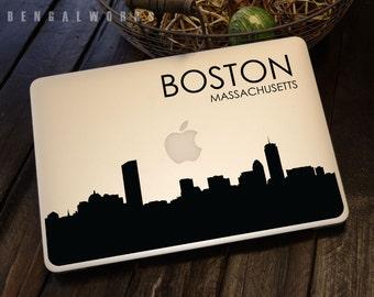 Boston Skyline Macbook Decal 4   Macbook Sticker   Laptop Decal   Laptop Sticker   Car Sticker