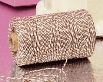 Brown & White Duo 4-ply 100% Cotton Baker's Twine (Free Shipping!)