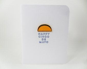 Cinco de Mayo Card, Taco Card, Mexican taco Card, 5 de Mayo Card, Happy Cinco de Mayo, Cinco de Mayo Celebration card, Handmade Taco Card
