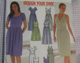 Simplicity 7165 Misses Design Your Own dress 9 ways size 12, 14, 16, 18 bust 34, 36, 38, 40 inches  uncut sewing pattern
