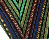 Thai Woven Cotton Fabric Tribal Fabric Native Fabric by the yard Ethnic fabric Aztec fabric Craft Supplies Woven Textile 1/2 yard (WF3)