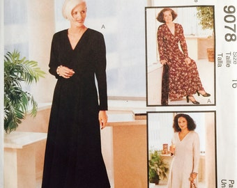 McCall's 9078 Misses' Dress inTwo Lengths Pattern, UNCUT, Size 16, Fit For Real People, Fashion For Everybody, 1997, Palmer Pletsch
