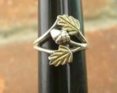 Vintage Vermeil Small/Child-size Acorn Ring