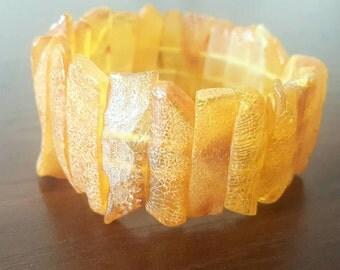 Baltic Amber Bracelet, amber bracelet, raw amber bracelet, unpolished amber bracelet, unique, gift, янтарный браслет, 琥珀手鍊, 琥珀ブレスレット