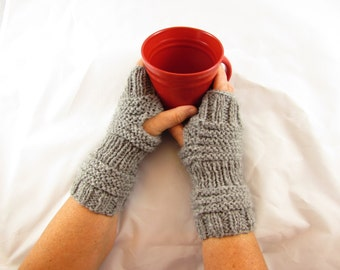 Beehive Fingerless Mittens, Quick Easy PDF Pattern