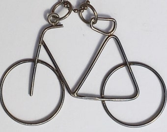 RARE Alwand Vahan vintage sterling silver bike necklace // designer pendant necklace // bike jewelry