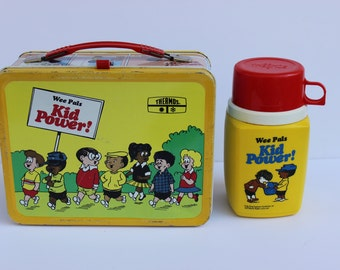 1973 Wee Pals Kid Power! Metal Lunch Box
