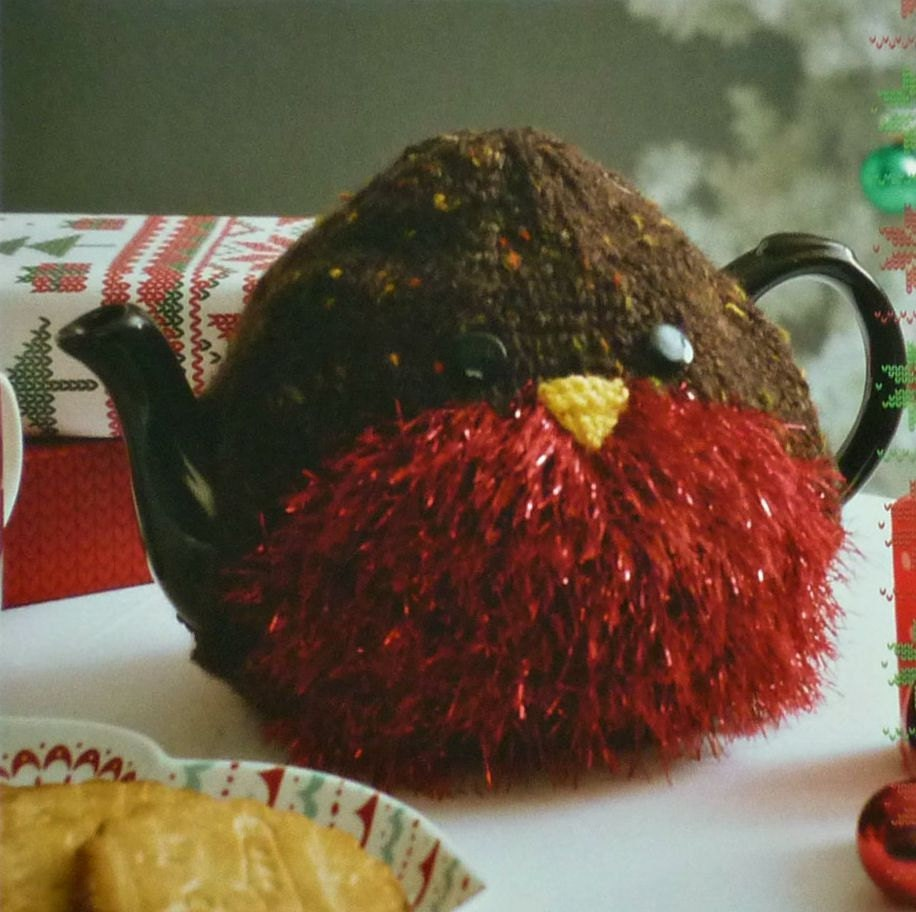 Hand Knitted Robin Red Breast Seasonal Christmas Tea Cosy/Cozy