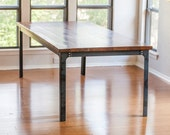 The Kindred Dining Table: Industrial Legs