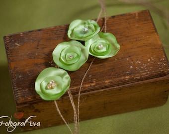Headbands - Light green with pearl or rhinestone
