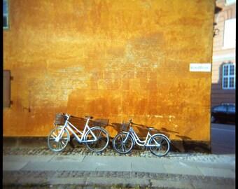 Copenhagen Bikes - Giclée Print from Holga Photograph, Color Film
