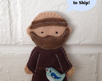 Saint Francis - Catholic Saint Toy - Finger Puppet